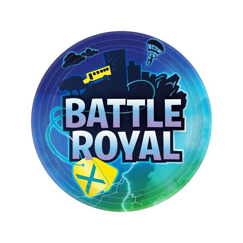 Image of Paper Plates (Pack Of 8) (23cm) (Multicoloured) - Battle Royal