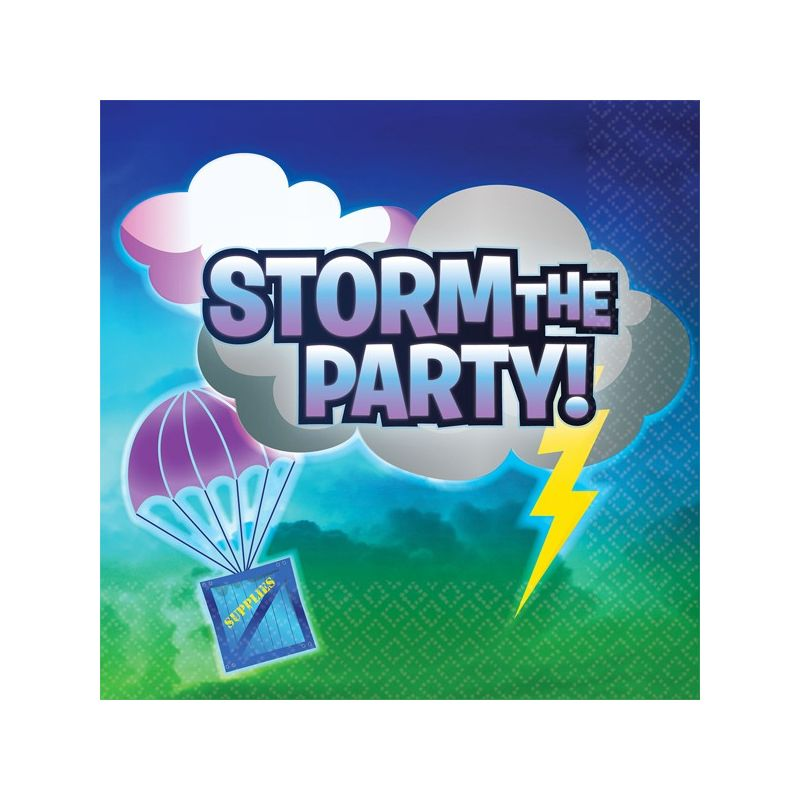 Image of Storm The Party Napkins (Pack Of 16) (One Size) (Multicoloured) - Battle Royal