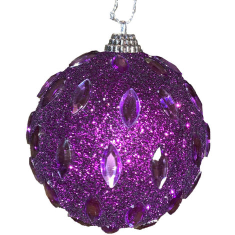 Bauble Tree Trim Purple