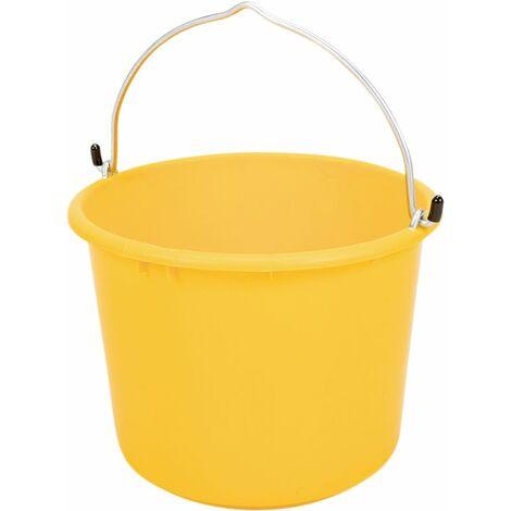 Baueimer 20 l Kunststoff, gelb,Hakenbügel,L-Skala,kranbar