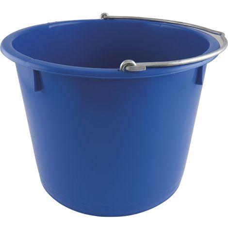 Baueimer PE blau kranbar Inhalt 20 Liter mit Nasenbügel