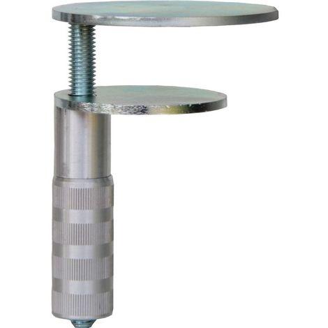 BAUER & Böcker Pince de table D.73+90mm 2 plaques métalliques Plateau de table 90mm