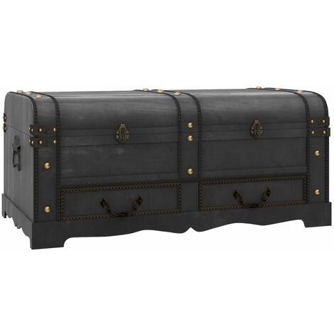 Baúl cofre grande de madera marrón