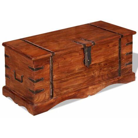 Baul de almacenamiento de madera maciza