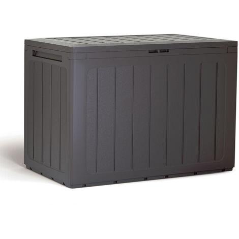 "main image of ""Baul de jardin 190 litros Prosperplast Boardebox de plastico en color ocre oscuro 78 x 43,3 x 55 cm"""