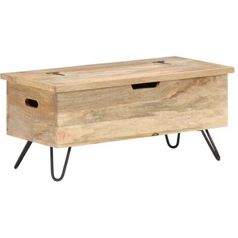 Baul madera maciza de mango 90x40x45 cm
