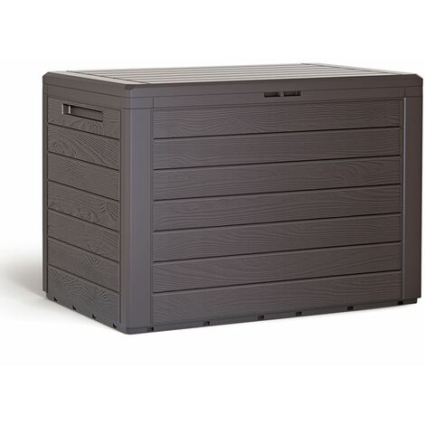 """Baúl para cojines """"Lille"""" caja de almacenamiento cofre de Plástico para almohadas Arcón de jardín balcón balcón exterior"""