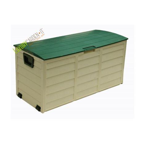 Box In Plastica Per Giardino.Baule Cassapanca Resina Plastica Contenitore Baule Esterno Giardino