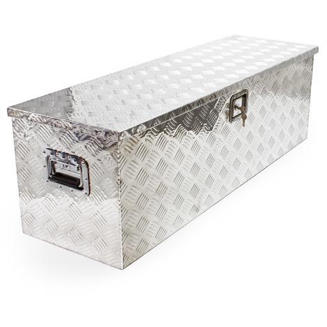 Baule in alluminio portattrezzi Cassa Box per attrezzi utensili 1230x380x380mm