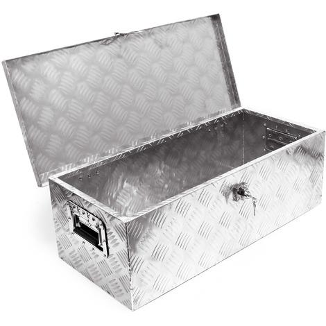 Baule in alluminio portattrezzi Cassa Box per attrezzi utensili 76x32x24,5cm