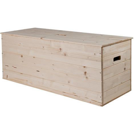 BAULE in legno massiccio grezzo GRANDE