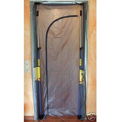 Bautüre Staubschutztüre Staubtüre Schmutztüre aus Zeltstoff