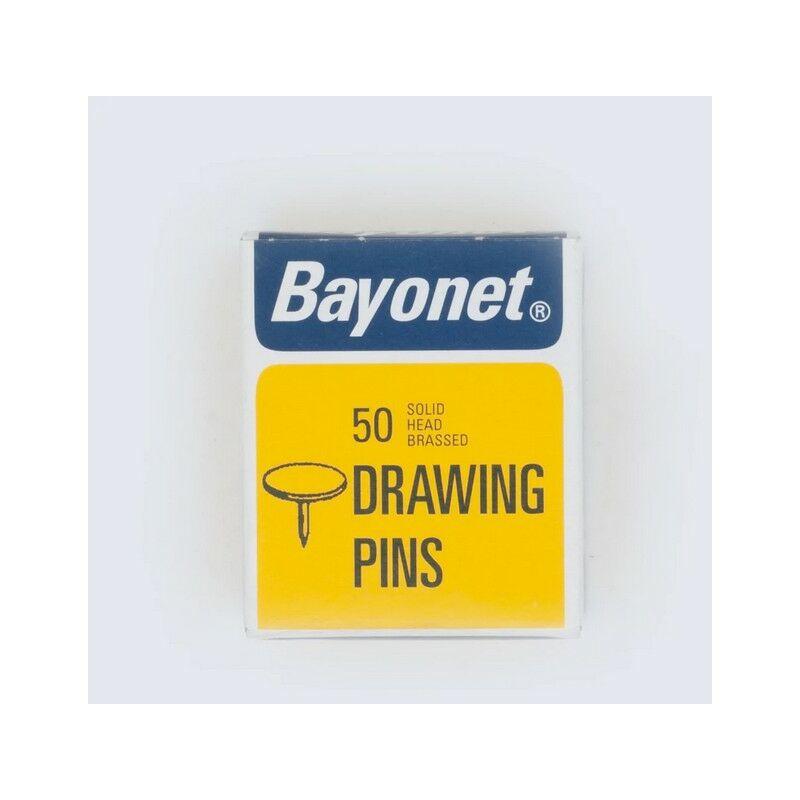 Bayonet Drawing Pins 10mm Box Of 50. Display Of 24 Boxes