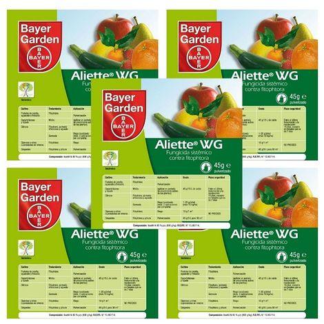 BAYER Fungicida Sistémico ALIETTE WG Pack Ahorro 5 x Sobres 45 gr