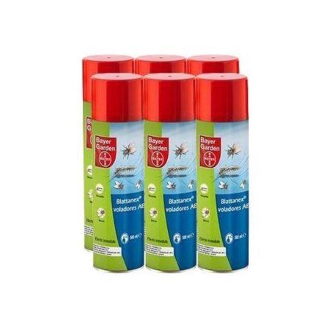 Bayer Garden Blattanex Voladores AE Insecticida Moscas, Mosquitos e Insectos Voladores Comunes Efecto Inmediato - Pack 6 x 500 ml