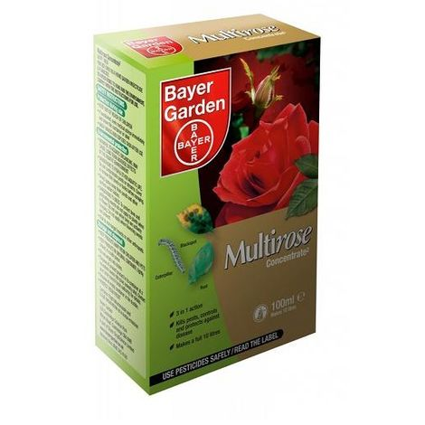 Bayer Multirose Concentrate 2 - 100ml Makes 10 litres - Protects Roses Plants