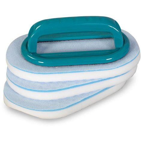 BAYROL Handbürste mit austauschbaren Reinigungspads