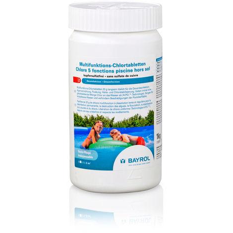 BAYROL Multifunktions-Chlortabletten 5 in 1 (20 g) 1,0 kg für Quick-Up Pools