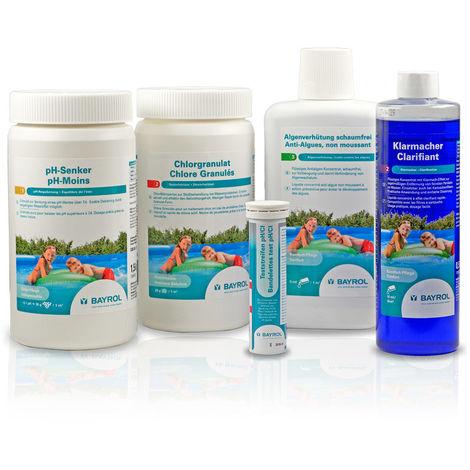 BAYROL Starter-Set Chlor - Poolpflegeset speziell für Quick-Up-Pools 5-teilig
