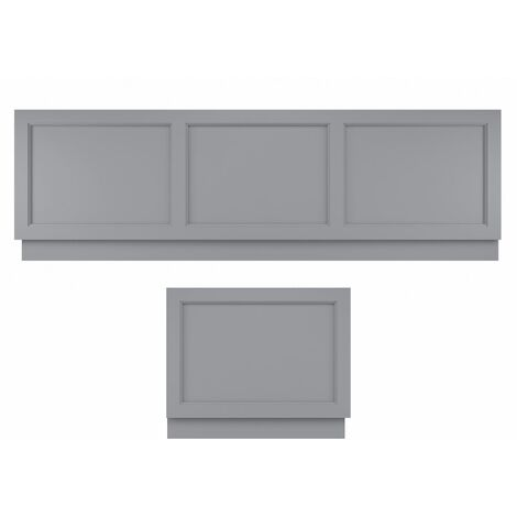 Bayswater Bath Panel Pack 1700 Front /750 End Traditional Plinth Plummett Grey