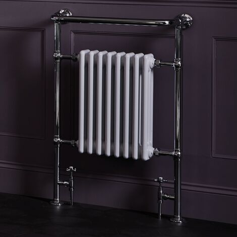 """main image of """"Bayswater Clifford Radiator Towel Rail 965mm High x 540mm Wide White/Chrome"""""""