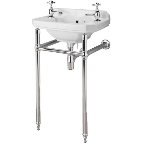 Bayswater Fitzroy Basin with Washstand 515mm Wide 2 Tap Hole