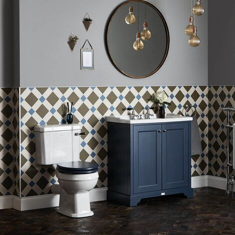 Bayswater Fitzroy Bathroom Suite with Floor Standing Vanity Unit 800mm - 3TH
