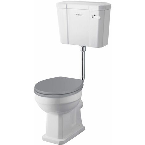 Bayswater Fitzroy Comfort Height Low Level Toilet WC Soft Close Seat White