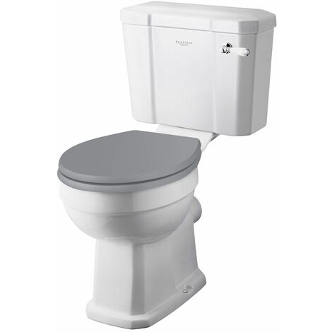Bayswater Fitzroy Comfort Height Toilet WC Soft Close Seat White Cloakroom