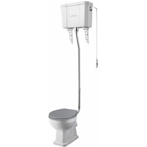Bayswater Fitzroy High Level Toilet WC Soft Close Seat White Cloakroom Bathroom
