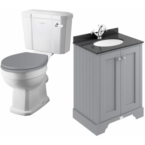 Bayswater Fitzroy Toilet & 600mm Traditional Vanity Unit WC Soft Close Seat