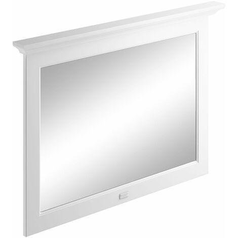Bayswater Flat Bathroom Mirror 1000mm Wide - Pointing White
