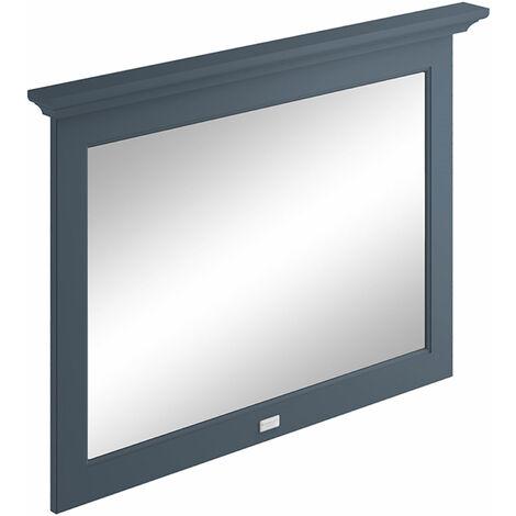 Bayswater Flat Bathroom Mirror 1000mm Wide - Stiffkey Blue