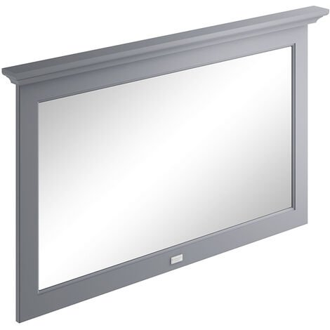 Bayswater Flat Bathroom Mirror 1200mm Wide - Plummett Grey