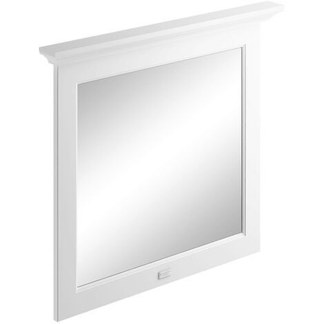 Bayswater Flat Bathroom Mirror 800mm Wide - Pointing White