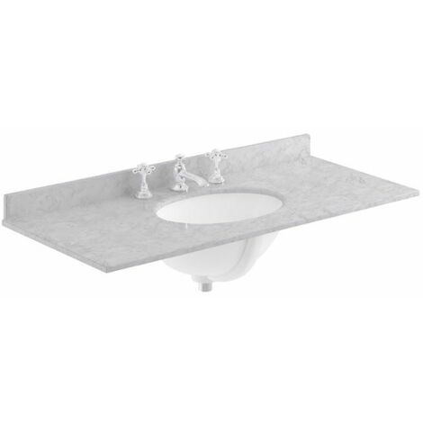 Bayswater Grey Single Bowl Countertop 1000mm 3 Tap Hole Undermount Basin