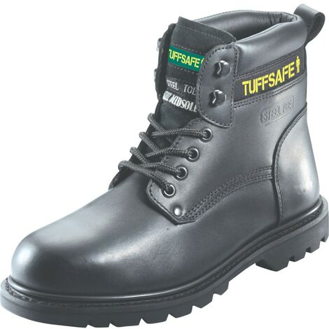 BBB02 Welted Men's Black Safety Boots