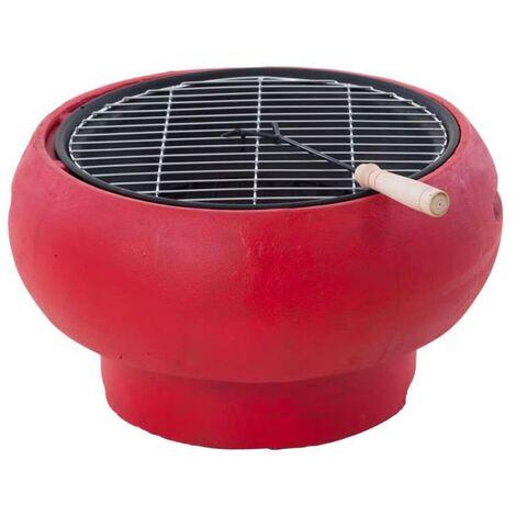 BBGRILL Barbecue portatif Rouge BBQ TUB-R