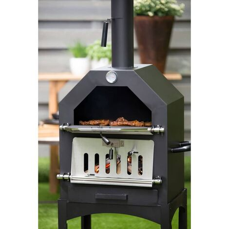 BBGRILL Outdoor Pizza-Backofen Lorenzo Schwarz LOR17