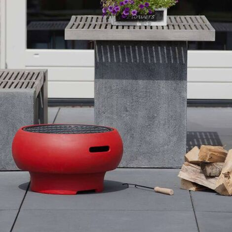 BBGRILL Portable Barbecue Red BBQ TUB-R - Red