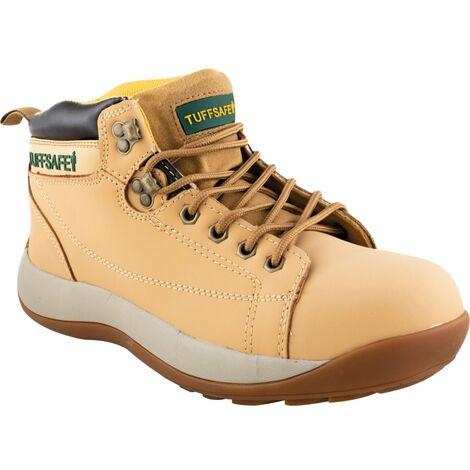 BBH04 Men's Honey Nubuck Hiker Safety Boots