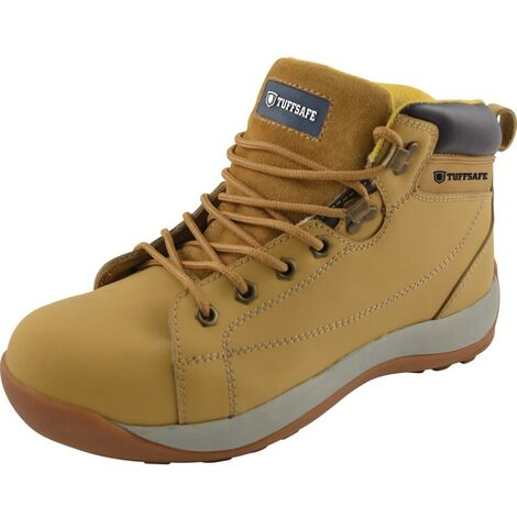 BBH04 Men's Honey Nubuck Hiker Safety Boots