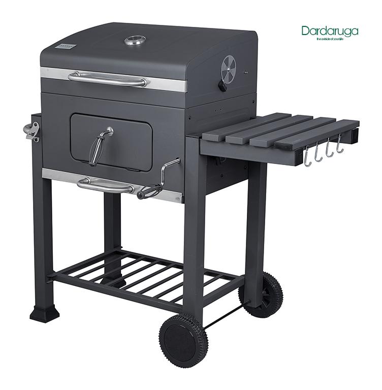 Barbecue bbq carbone carbonella regolabile ruote ripiano pic nic griglia arizona