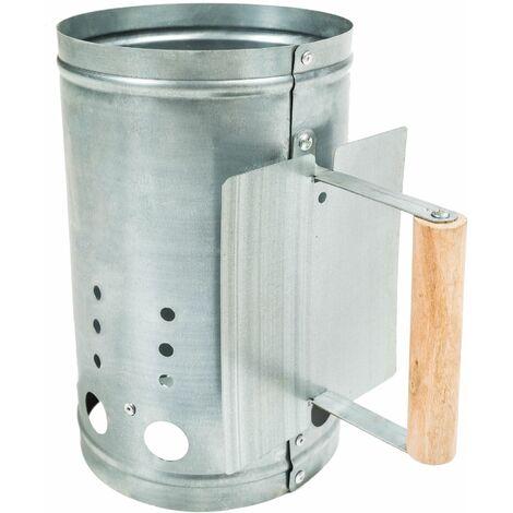 "main image of ""BBQ firestarter with heat shield - charcoal firestarter, bbq firestarter, bbq chimney"""