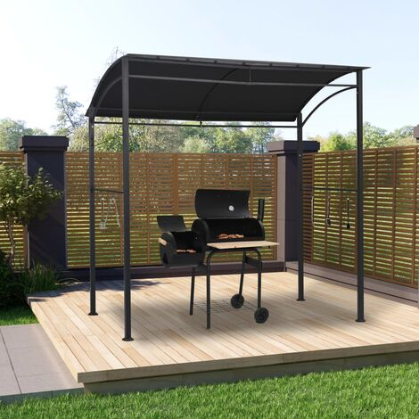 BBQ Gazebo 215x150x220 cm Anthracite Steel