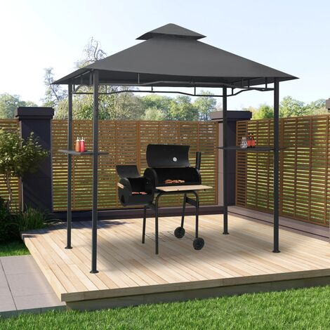 BBQ Gazebo 240x150x255 cm Anthracite Steel