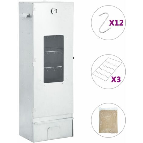 BBQ Oven Smoker with 1kg Wood Chips 44.5x29x124 cm