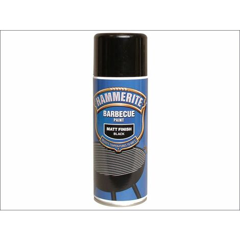 BBQ Paint Aerosol Black Matt 400ml (HMMBBQBLAERO)
