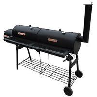 BBQ Smoker Barbecue Grill Black 173 x 51 x 141 cm (L x W x H)