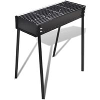 BBQ Stand Charcoal Barbecue Square 75 x 28 cm